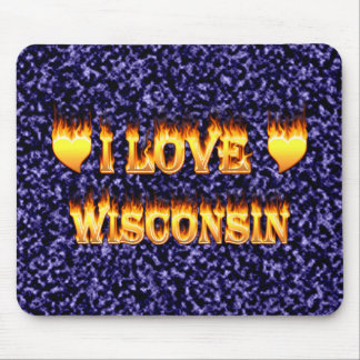 I love wisconsin fire and flames mouse pad