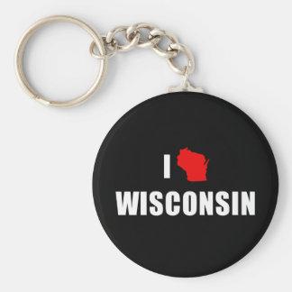I Love Wisconsin Keychain