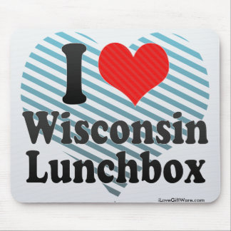 I Love Wisconsin+Lunchbox Mouse Pads
