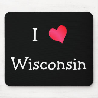 I Love Wisconsin Mouse Mats