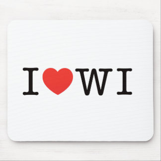I LOVE Wisconsin Mouse Pad