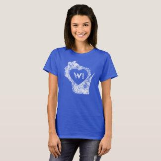 I Love Wisconsin State Women's Basic T-Shirt