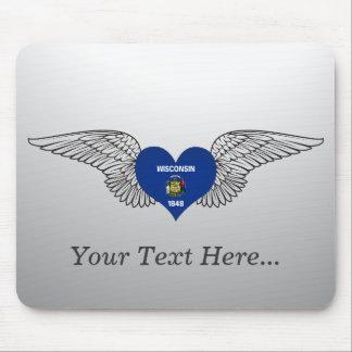I Love Wisconsin -wings Mousepad