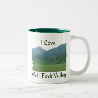 I Love Wolf Fork Valley Two-Tone Coffee Mug