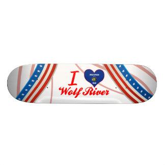 I Love Wolf River, Wisconsin Custom Skate Board