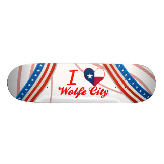 I Love Wolfe City, Texas Skateboard Decks