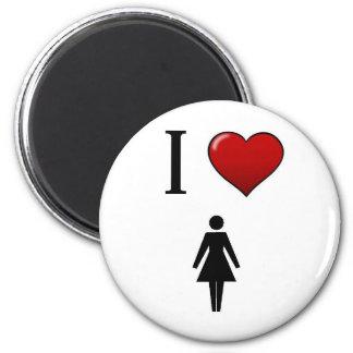 I love women 2 inch round magnet