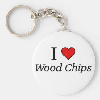 I love wood chips keychain