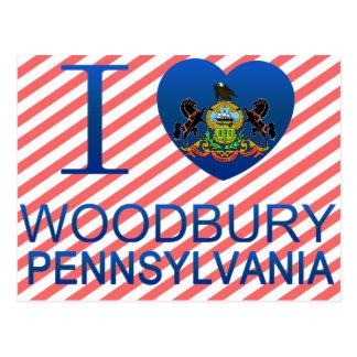 I Love Woodbury, PA Postcard