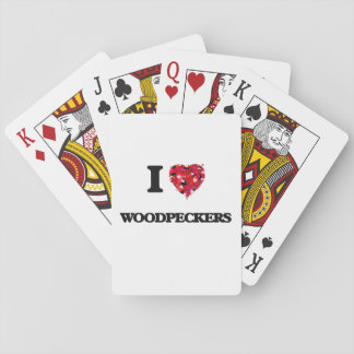 I love Woodpeckers Playing Cards