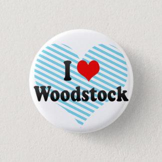 I Love Woodstock, Canada 1 Inch Round Button