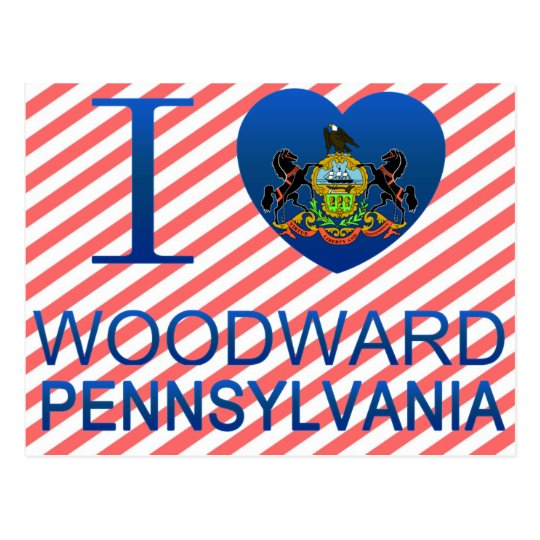I Love Woodward, PA Postcard