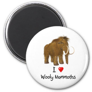"""I Love Wooly Mammoths"" Wooly Mammoth Magnet"