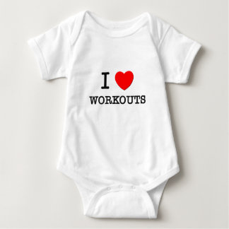 I Love Workouts Baby Bodysuit