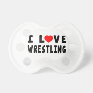 I Love Wrestling Pacifiers