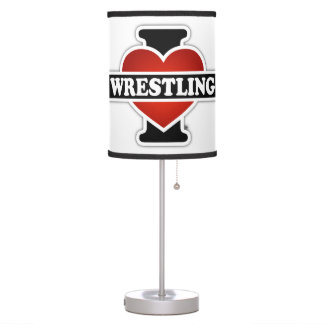 I Love Wrestling Table Lamp