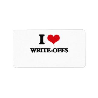 I love Write-Offs Address Label