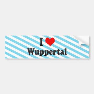 I Love Wuppertal, Germany Bumper Sticker