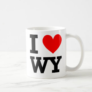 I Love Wyoming Design Coffee Mug