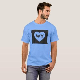 I Love Wyoming State Men's Basic Dark T-Shirt