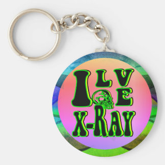 I Love X-Ray Keychain