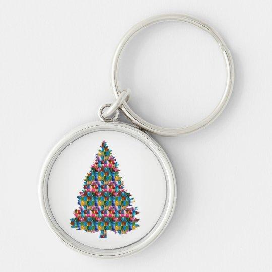 I LOVE XMAS : TREE jadded with PEARL JEWEL GEMS Keychain