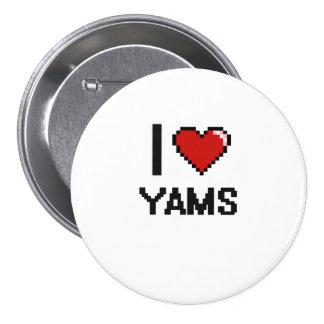 I Love Yams 3 Inch Round Button