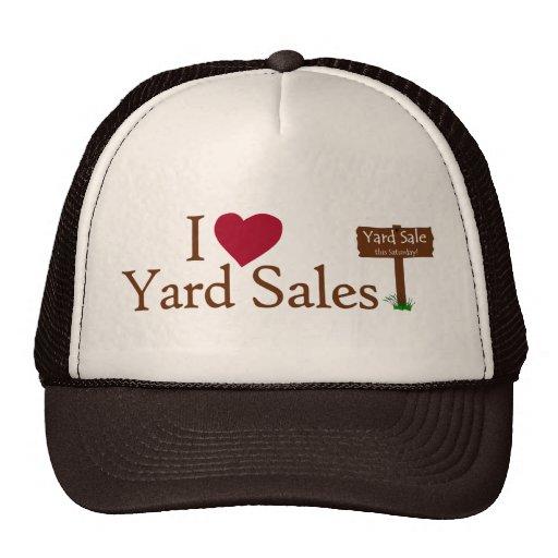 I Love Yard Sales Mesh Hat