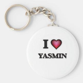 I Love Yasmin Basic Round Button Keychain