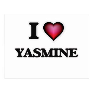 I Love Yasmine Postcard