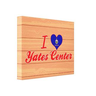 I Love Yates Center, Kansas Canvas Prints