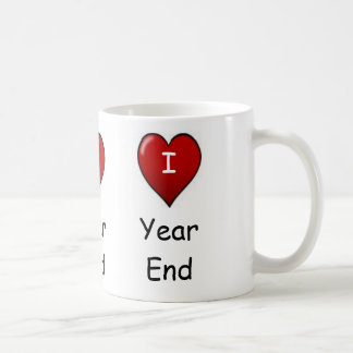 I Love Year end! Triple-sided Classic White Coffee Mug
