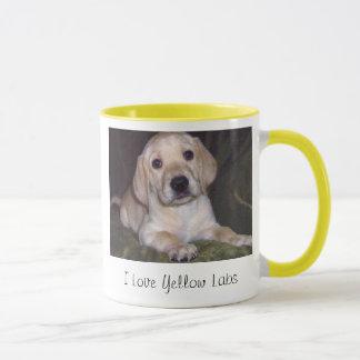 I Love Yellow Labs Coffee Mug