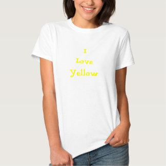 I Love Yellow tshirt