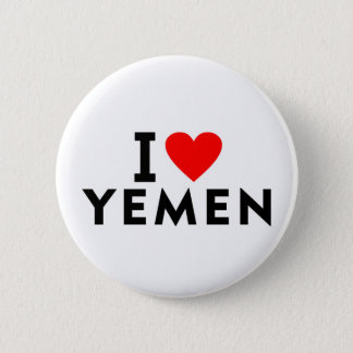 I love Yemen country like heart travel tourism 2 Inch Round Button