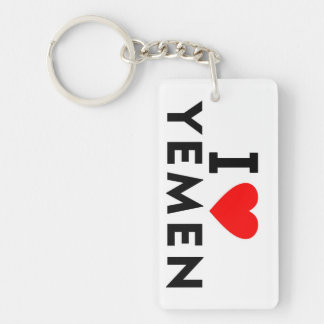 I love Yemen country like heart travel tourism Keychain