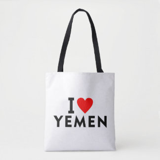 I love Yemen country like heart travel tourism Tote Bag