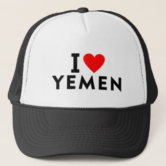 I love Yemen country like heart travel tourism Trucker Hat