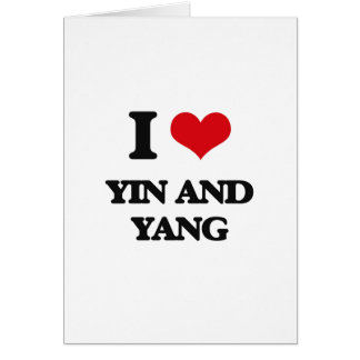 I love Yin and Yang Card