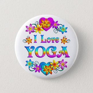 I Love Yoga 2 Inch Round Button