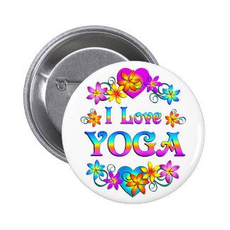 I Love Yoga 2 Inch Round Button