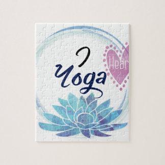 I Love Yoga Art Jigsaw Puzzle