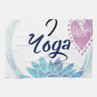 I Love Yoga Art Kitchen Towel