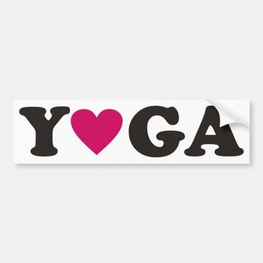 I love Yoga Bumper Sticker