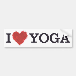 I Love Yoga Bumper Sticker