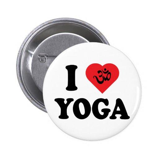 I Love Yoga Gift Pin