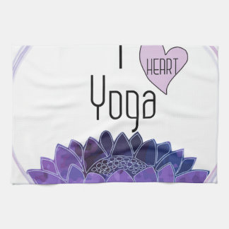 I Love Yoga Kitchen Towel