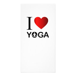 I love yoga photo card