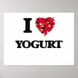 I Love Yogurt food design Poster