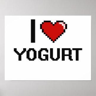 I Love Yogurt Poster